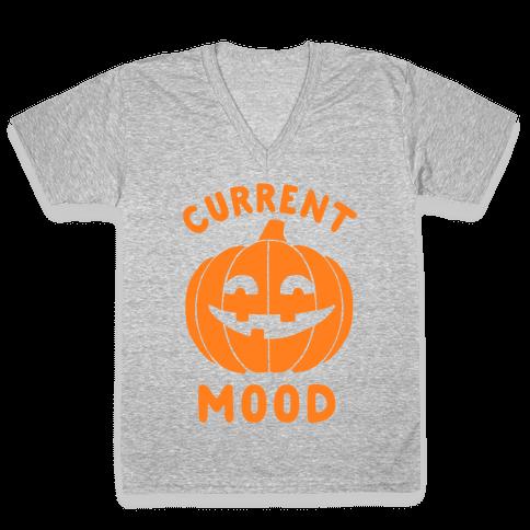 Current Mood: Halloween V-Neck Tee Shirt