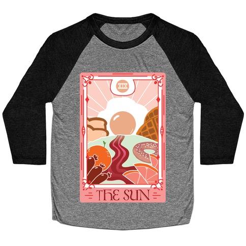 The Sun Breakfast Tarot Baseball Tee