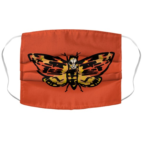 Moth Over Mouth Parody Accordion Face Mask