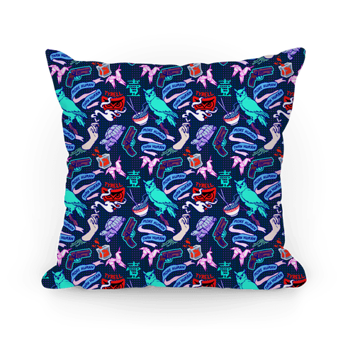 Do Androids Dream Sci Fi Pattern Pillow