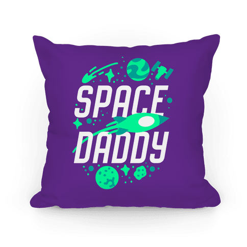 Space Daddy Pillow
