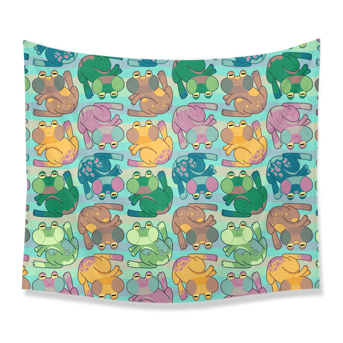 Cool Frogs Tapestry