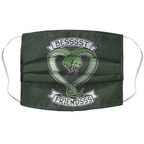 Besssst Friendsss Accordion Face Mask