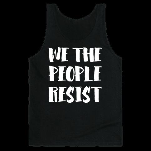 We The People Resist White Print Tank Top