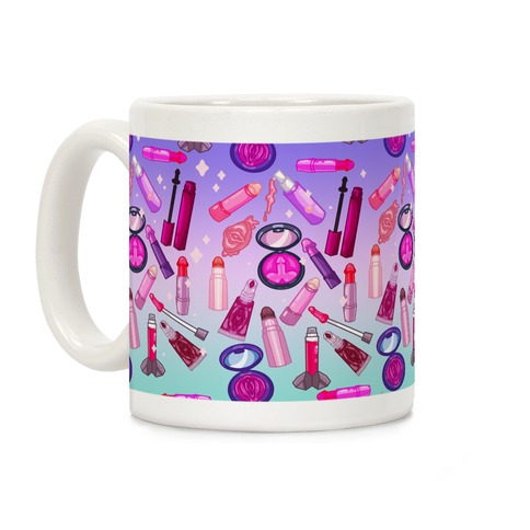 NSFW Makeup Pattern Coffee Mug