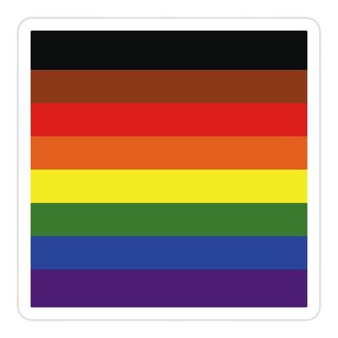 Gay Pride Flag  Die Cut Sticker