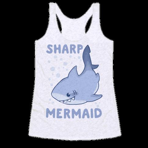 Sharp Mermaid Racerback Tank Top