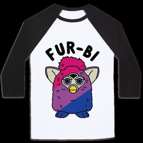 Fur-bi Bisexual Furby Baseball Tee