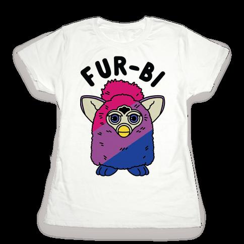 Fur-bi Bisexual Furby Womens T-Shirt