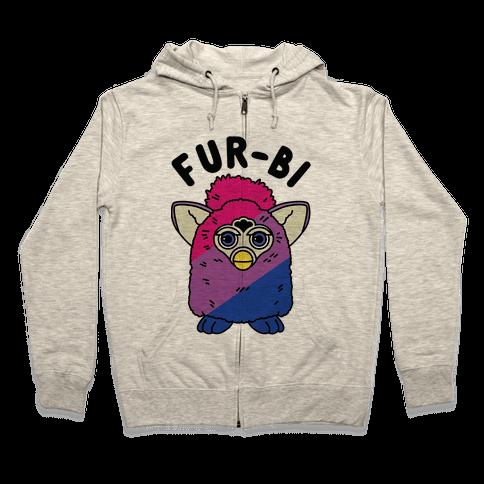 Fur-bi Bisexual Furby Zip Hoodie