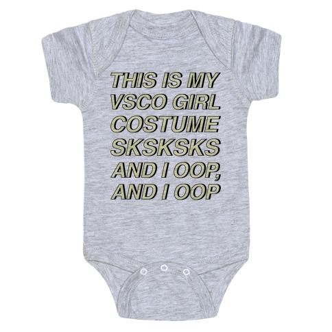 This Is My VSCO Girl Costume Baby Onesy