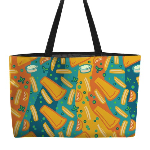 Groovy Fish And Chips Weekender Tote