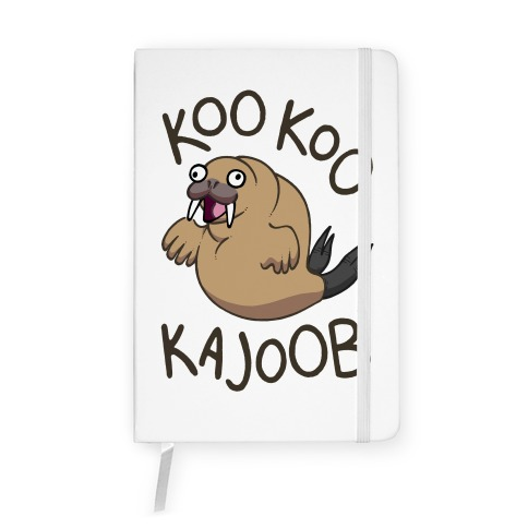 Koo Koo Kajoob Derpy Walrus Notebook