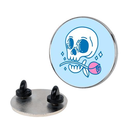 Hopeless Romantic Skull Pin