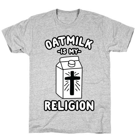 Oatmilk Is My Religion Mens/Unisex T-Shirt