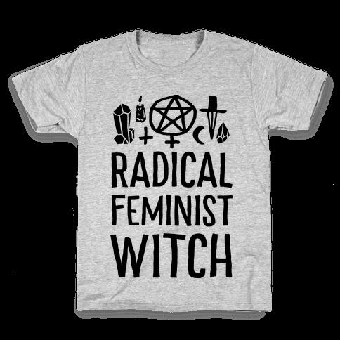 Radical Feminist Witch Kids T-Shirt