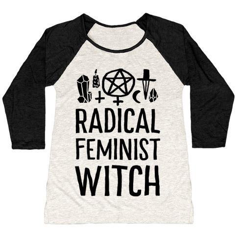 Radical Feminist Witch Baseball Tee