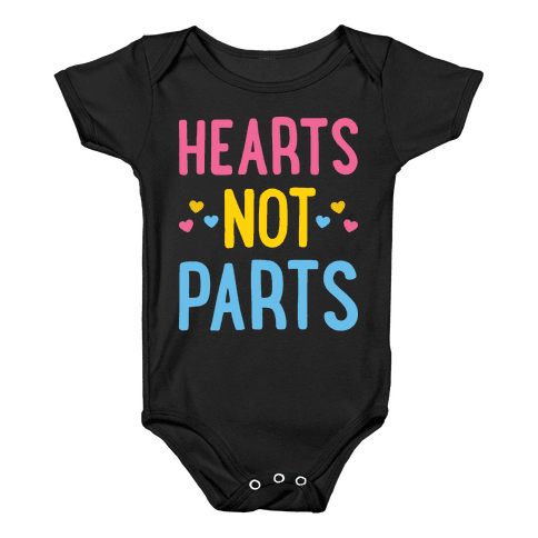 Hearts Not Parts (Pansexual) Baby Onesy