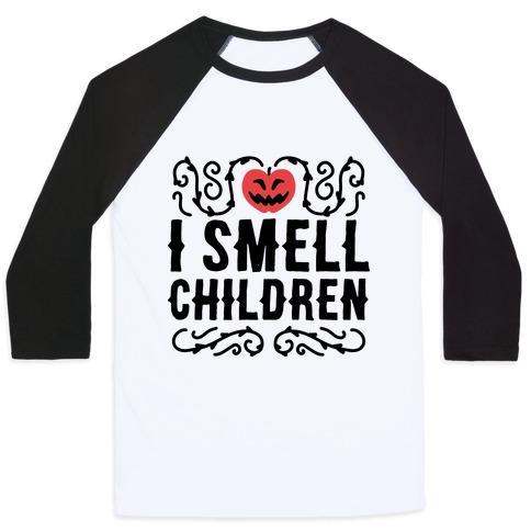 I Smell Children - Hocus Pocus Baseball Tee