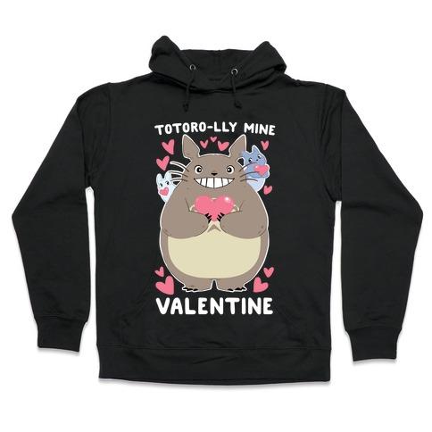 Totoro-lly Mine, Valentine Hooded Sweatshirt
