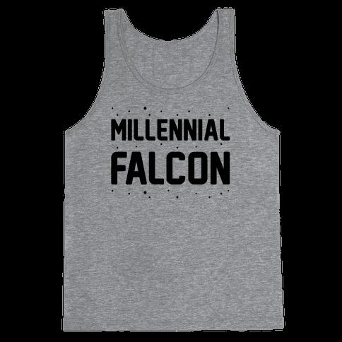 Millennial Falcon Parody Tank Top