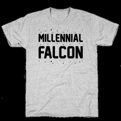 Millennial Falcon Parody Mens T-Shirt