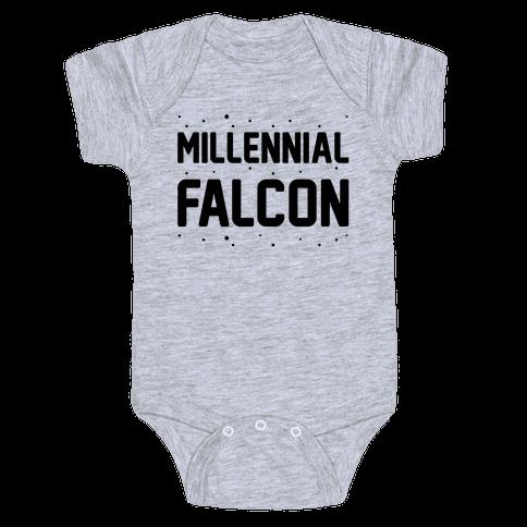 Millennial Falcon Parody Baby Onesy