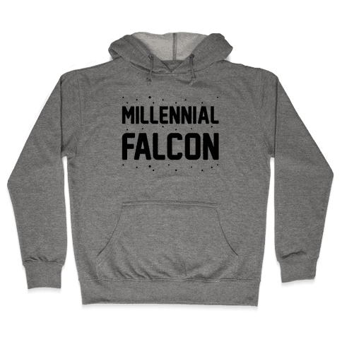 Millennial Falcon Parody Hooded Sweatshirt
