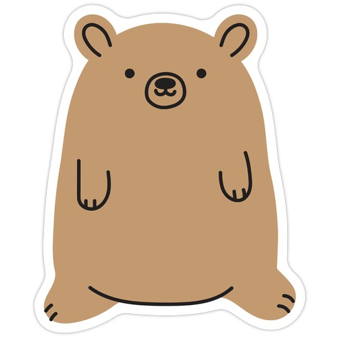 Fat Bear Die Cut Sticker