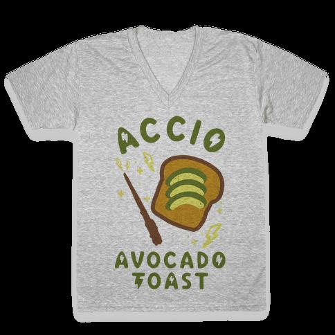Accio Avocado Toast V-Neck Tee Shirt