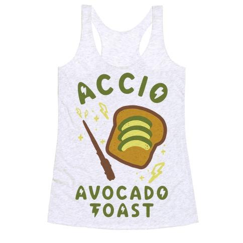 Accio Avocado Toast Racerback Tank Top