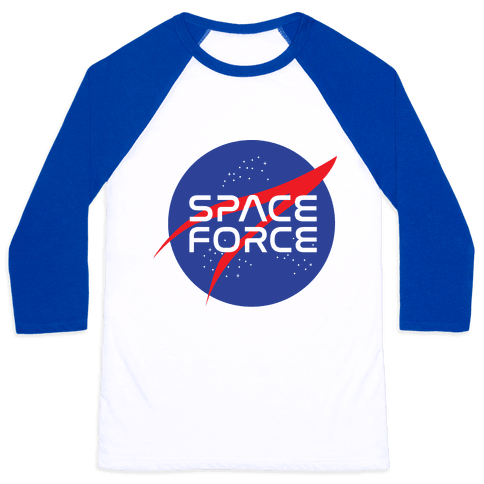 Space Force Parody Baseball Tee