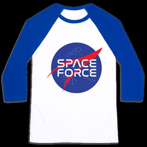 Space Force Parody Baseball Tee