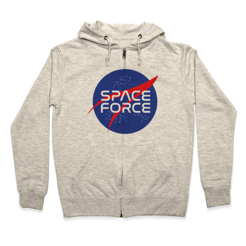 Space Force Parody Zip Hoodie
