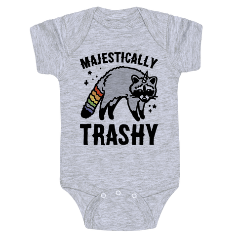 Majestically Trashy Raccoon  Baby Onesy