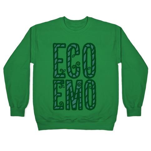 Eco Emo White Print Pullover
