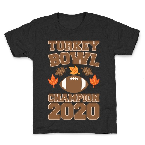 Turkey Bowl Champion 2020 White Print Kids T-Shirt