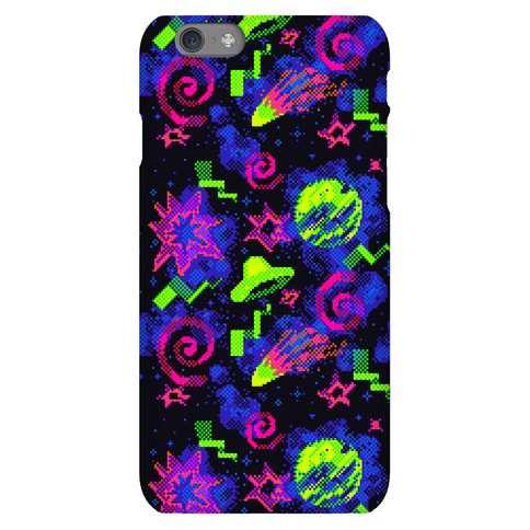 Faux Retro Arcade Carpet Pattern Phone Case