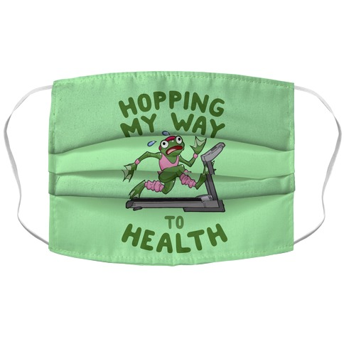 Hopping My Way To Health Accordion Face Mask