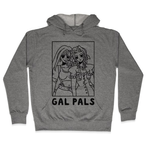 Gal Pals Parody Aeris Tifa Hooded Sweatshirt