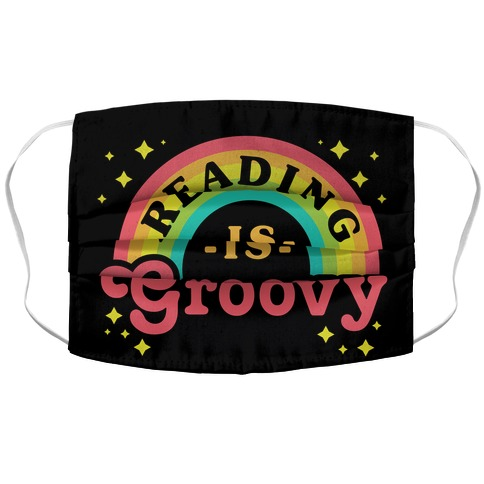 Reading is Groovy Accordion Face Mask