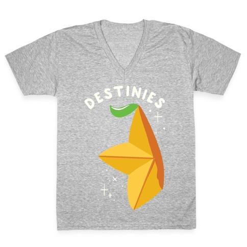 Paopu Fruit Destinies V-Neck Tee Shirt