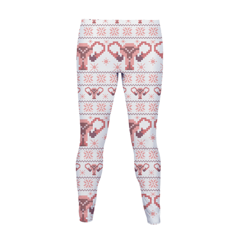 Uterus Sweater Pattern Women's Legging
