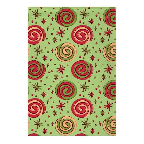 Christmas Pinwheel Cookies Garden Flag