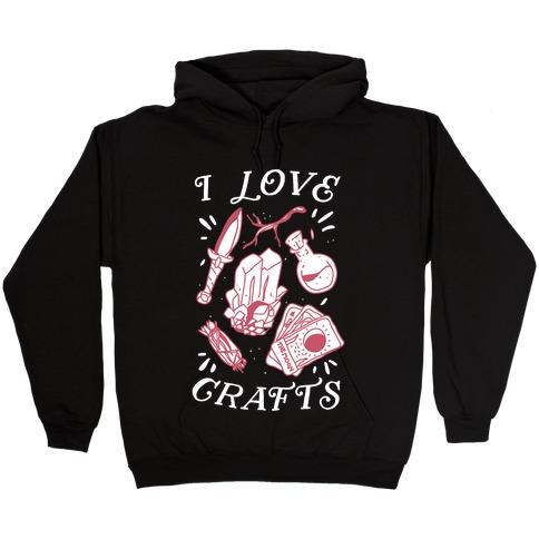 I Love (Witch) Crafts Hooded Sweatshirt