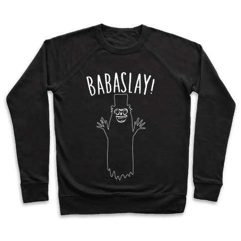 Babaslay Parody White Print Pullover