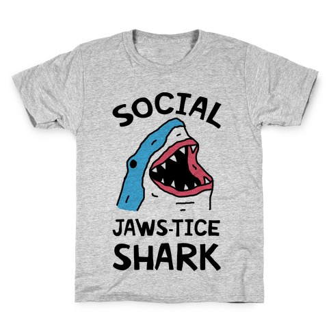 Social Jaws-tice Shark Kids T-Shirt
