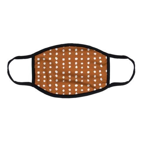 Polka Dot Rust Minimalist Boho Pattern Flat Face Mask