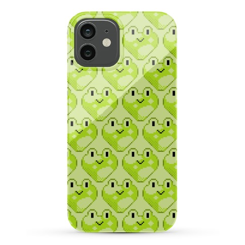 Pixel Frog Hearts Phone Case