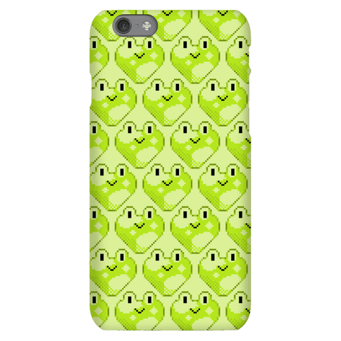 Pixel Frog Hearts Phone Case